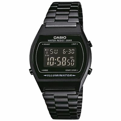 Casio B640WB-1BEF Black Classic Digital Watch with Stainless Steel Band New