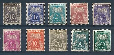 R2172 - ANDORRE - Timbres Taxe N° 32 à 41 Neufs*