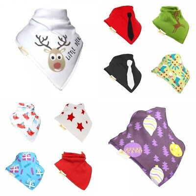 Funky Giraffe Baby Toddler Bandana Bib 100% Cotton  Dribble Dry CHRISTMAS