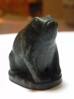 Zurqieh -  Ancient Egypt. Beautiful And Rare Stone Frog. 1479–1425 Bc