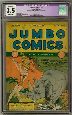 Jumbo Comics #25 CGC 3.5 (OW) Nick Viscardi Sheena Cover