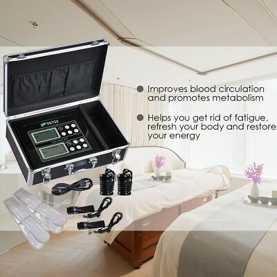 Dual User Foot Bath Machine Ionic Detox Foot Spa Cell Cleanse Machine LCD Tool