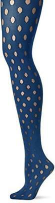 HUE Sheer Dot Tights Women's Size S/M M/L Ink Blue NWT