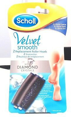 SCHOLL Velvet Smooth Replacement Roller Heads (EXTRA COARSE) - RRP £15.00