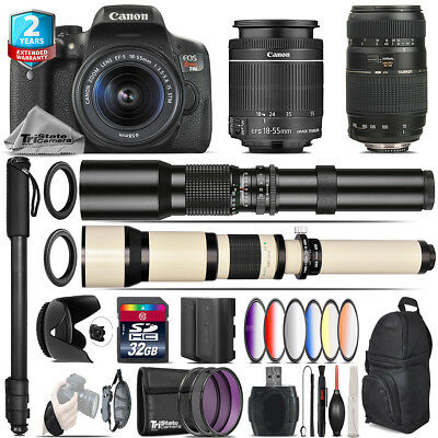 Canon EOS Rebel T6i + 18-55mm IS STM + Tamron 70-300mm + 9PC Filter - 32GB Kit