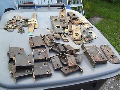 Vintage Sargent Easy Spring Door Lock Latch Brass LARGE PARTS LOT KEYHOLE