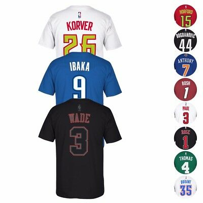 NBA Adidas Player Name & Number Team Jersey T-Shirt Collection Men's
