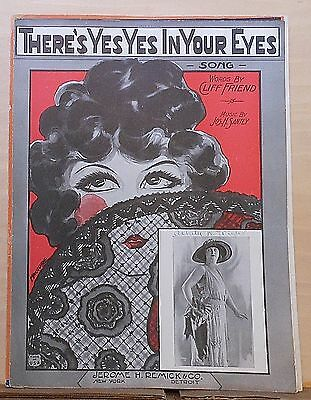 There's Yes Yes In Your Eyes - 1924 Sheet Music - Margaret Young photo