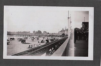 Vintage 1940 Santa Cruz California Amusement Park Beach Merry Go Round Old Photo