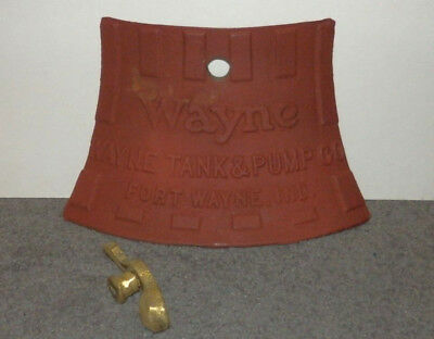 (1) DOOR & LOCK ASSEMBLY for BASE of Wayne Roman Visible Pump, Heavy Cast