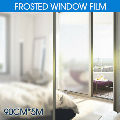 90cm*5m Sand Blast Clear Privacy Frosted Frosting Removable Window Glass Film