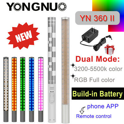 YONGNUO YN360II YN360 II LED Handheld Video Light 3200-5500K RGB Color Stick US