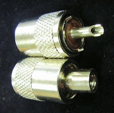 CB Radio PL259 Connector Plugs RG58 6mm Brown Insulator Twin Pack