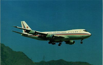 Dr Jim Stamps Aviation Postcard China Airlines Cargo Boeing B-747-209F Kai Tak