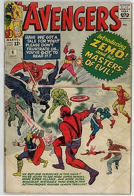 Avengers #6 GD 1st Baron Zemo and The Masters of  Evil
