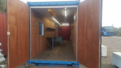 Shipping container 40ft / 20ft bespoke portable repair / workshop / welding hut