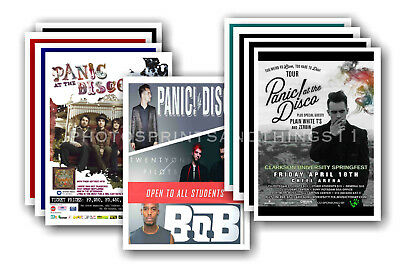 PANIC AT THE DISCO  - 10 promotional posters  collectable postcard set # 2