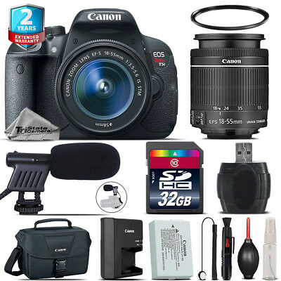Canon EOS Rebel T5i + 18-55mm IS STM + Shoutgun Mic + UV + Case - 32GB Kit
