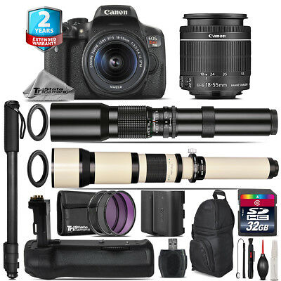 Canon EOS Rebel T6i + 18-55mm IS STM + Battery Grip + Extra Battery - 32GB Kit