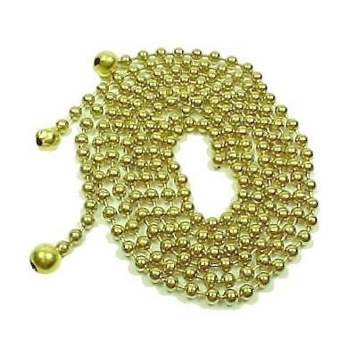 """Three 12"""" Brass Bead Chain Art Deco 3 Hole Light Shade Ceiling Mounting Hanging"""