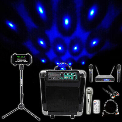"NYC Acoustics 6.5"""" Karaoke Machine/System 4 ipad/iphone/Android/Tablet+Lights !"