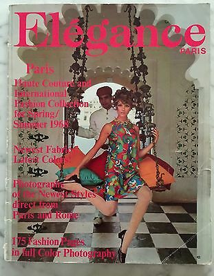 Elegance Paris France Fashion Magazine Spring/Summer 1968 Mid Century