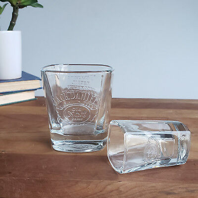 7 Lowball Rocks And Shot Glass Square Embossed Design