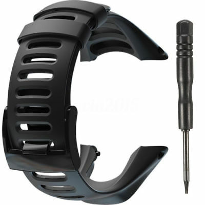 Black Soft Watch Strap Band For Suunto Ambit 1 2 2R 2S Ambit 3 SPORT SS019474000