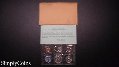 1959 Proof Set ~ Original Envelope With COA ~ US Mint Silver Coin Lot SKU-684