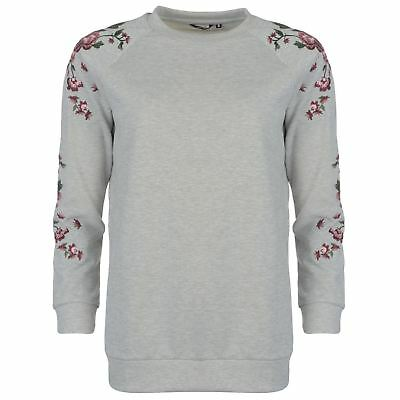 a47c12e4a1 Golddigga Womens Embroidered Crew Sweater Jumper Pullover Long Sleeve Neck