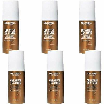 6x Goldwell StyleSign Texture Roughman Hold 4 Haarcreme Paste, 50ml