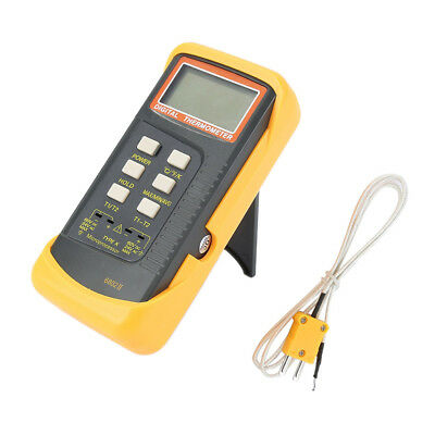 K-Type Digital Thermocouple Thermometer 2 Channel Sensor Probe -50C to 1300C