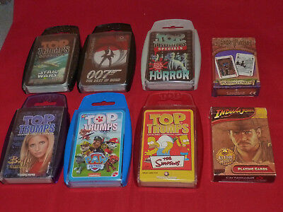 Assorted Top Trump & Card Games - Good Condition #gift/collector