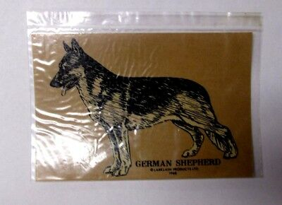 Vintage NOS GERMAN SHEPHERD Transparent Sticker Decal Larklain Products dog