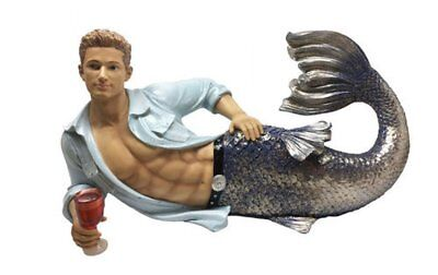 December Diamonds Dallas Triton Merman Large Display Figurine Sculpture 5555063