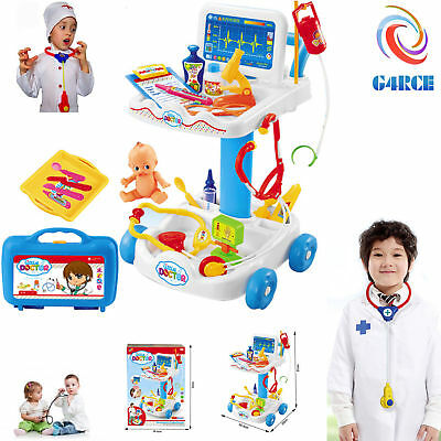 Kids Hospital Doctor Nurse Medical Trolley Fun Role Play Toy Favourite XMAS Gift