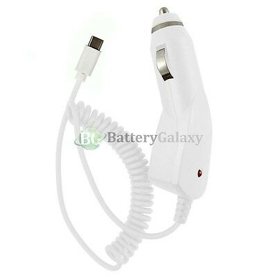 100X USB Type C Car Charger for Android Phone ZTE Imperial Max 2 / Zmax Pro NEW