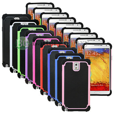 NEW LOT Hybrid Rugged Rubber Matte Hard Case Cover for Samsung Galaxy Note 3