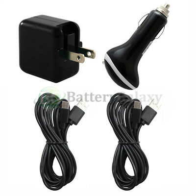 2 USB 10' Type C Cord+Car+FAST Wall Charger for Motorola Moto Z/Force/Play Droid