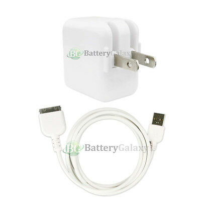 RAPID Battery Home Wall Charger+USB Cable for Tablet Apple iPad 2 3 1st 2nd 3rd