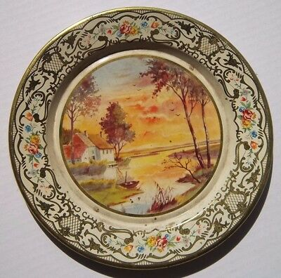 Lot Of Two Vintage Tin Daher Ware Wall Plates
