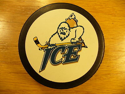 WHL Edmonton Ice League Vintage Logo Official Game Hockey Puck Collect Pucks