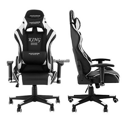 New LUXURY Leather GAME/RACING Office Desk Swivel Computer Office Chair Massage