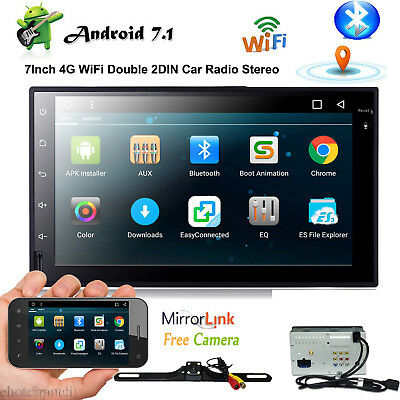 "7""Smart Android7.1 4G WiFi Double 2DIN Car Radio Stereo Unit NoPlayer GPS+Camera"
