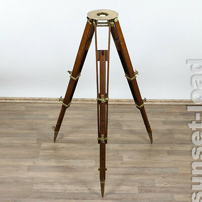 Altes Stativ Otto Fennel Cassel um 1900 Tripod Holz Messing Top Zustand
