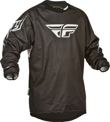 Fly Racing Windproof Jersey Black MD