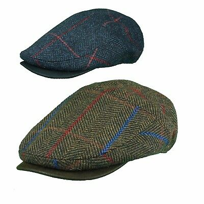 Tourer Cap by Whitely Quality Tweed Cap with Suedette Peak Soft Top Car Cap