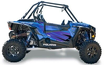 Dragonfire Voodoo Blue Door Panel Graphics for Polaris RZR XP 1000 07-1106