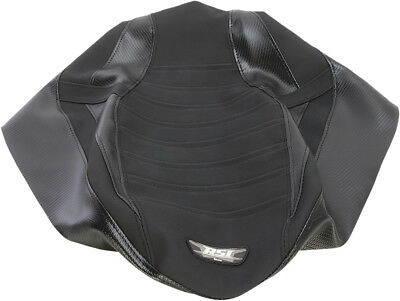 RSI Black Snowmobile Pleated Gripper Seat Cover SC-15P