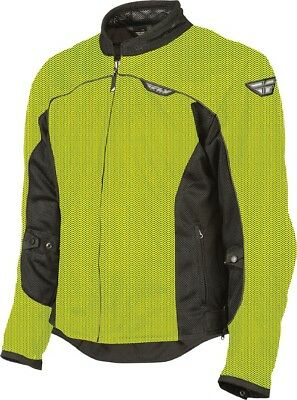 Fly Flux Air Mesh Jacket Hi-Viz Yellow/Black Adult LG